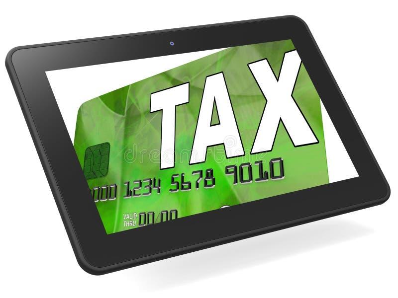 De belasting op Berekende de Kaart van het Kredietdebet toont Belastingenterugkeer IRS stock illustratie