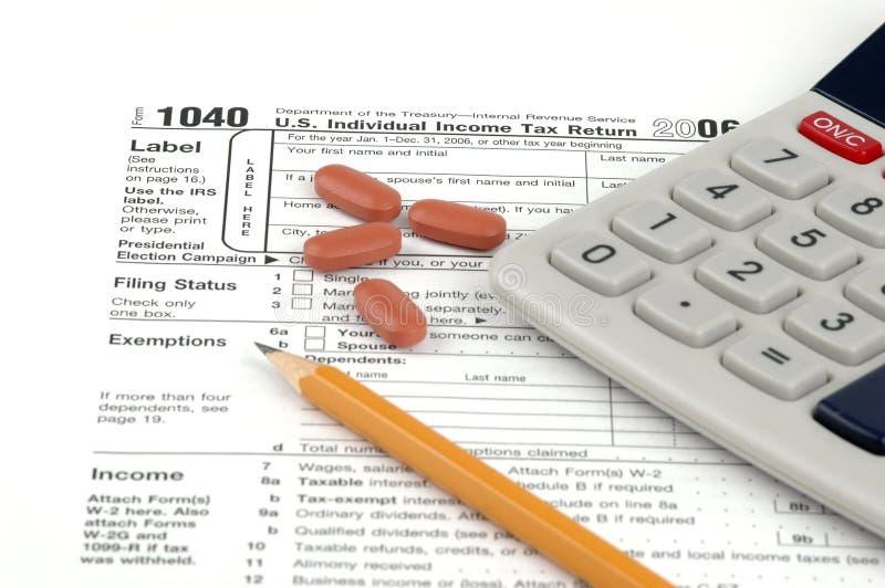 De Belastingaangifte van de V.S stock fotografie