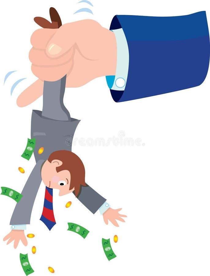 De belastingontvanger vector illustratie