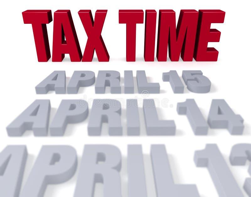 De belastingstijd komt aan vector illustratie