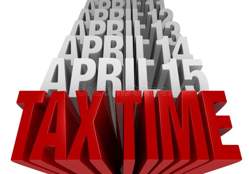 De belastingstijd is nu! vector illustratie