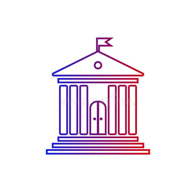 De beleidsbouw met pijlers royalty-vrije illustratie