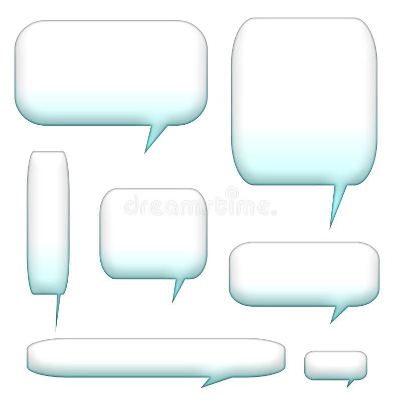 De bellen en de ballons van de toespraak royalty-vrije illustratie