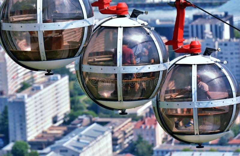 De bellen - gondel sferische kabelwagen, Grenoble royalty-vrije stock afbeelding