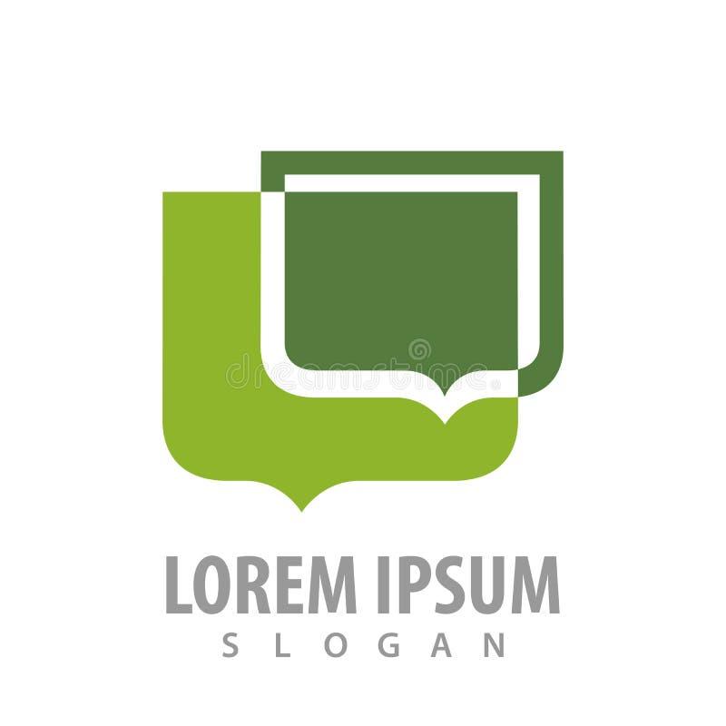 De bellen groen conceptontwerp van de toespraakballon Het elementenvector van het symbool grafische malplaatje stock illustratie