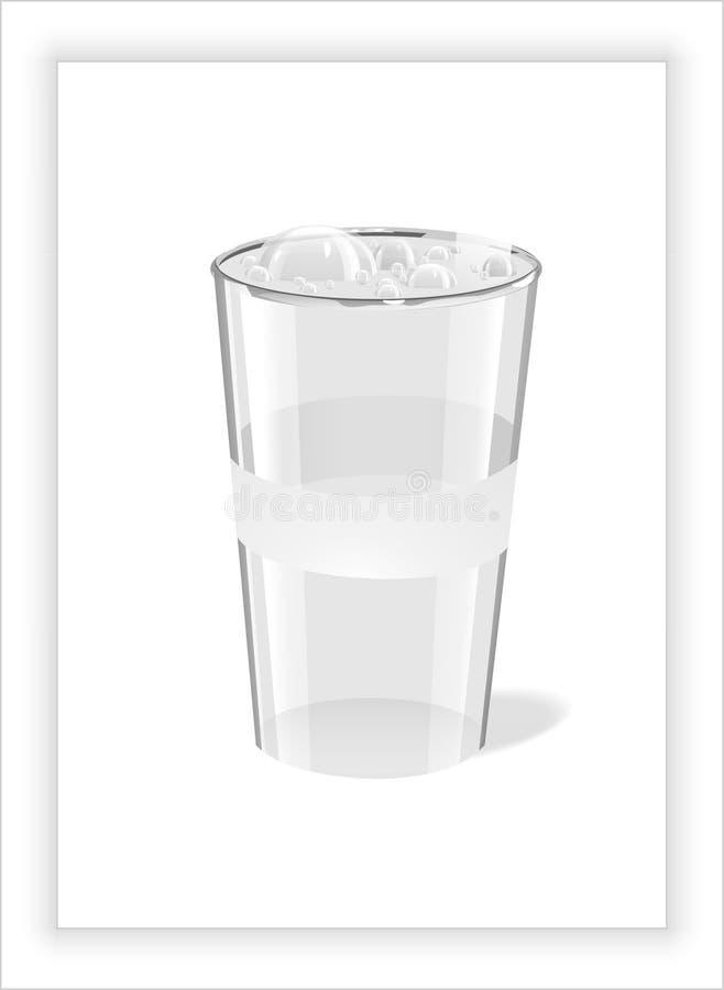 De bellen in het glas, plastiek stock afbeeldingen