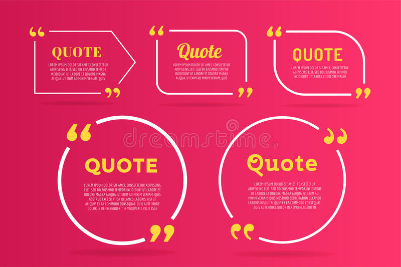 De bellen leeg ontwerp van het citaat leeg malplaatje vector illustratie