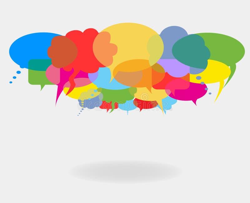De bellen van de bespreking en van de toespraak vector illustratie