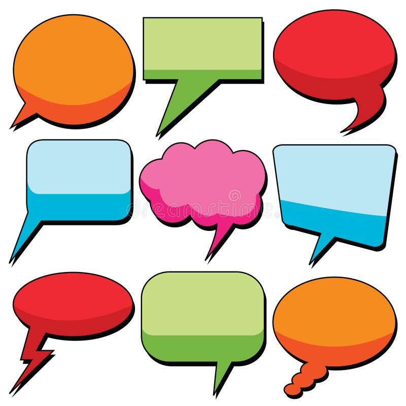 De bellen van de dialoog vector illustratie