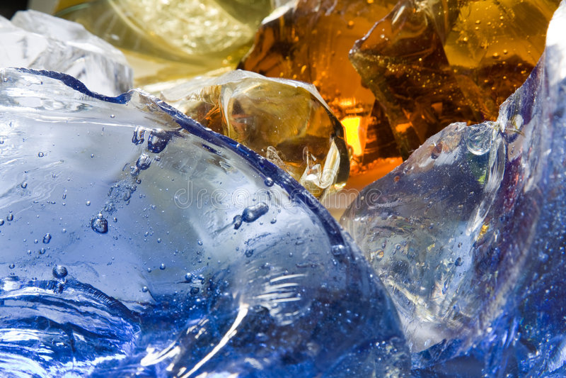 De bellen van het glas royalty-vrije stock afbeeldingen