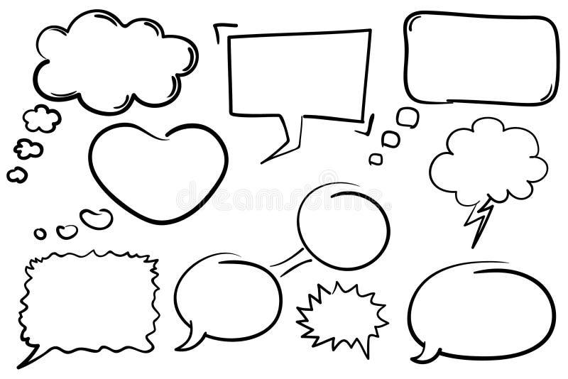 De Bellen van het praatje vector illustratie