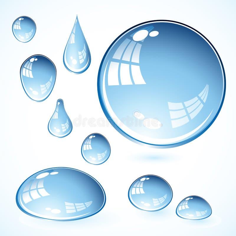 De bellen van het water stock illustratie
