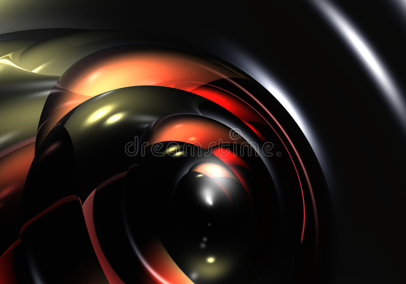De bellen van Red&black vector illustratie