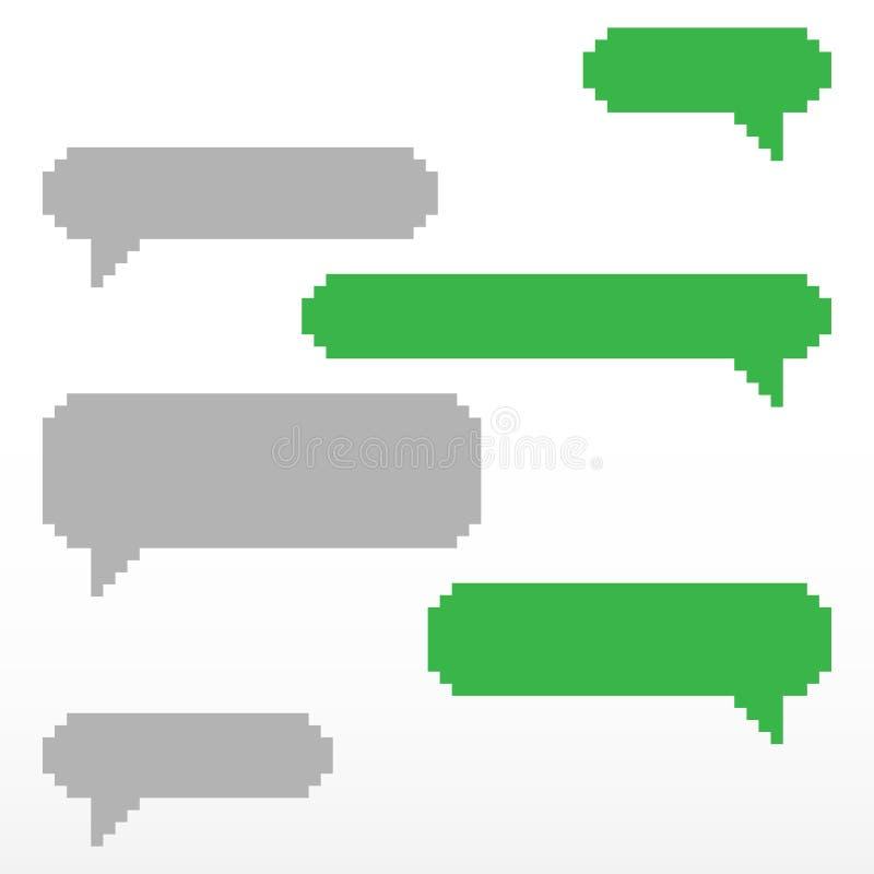 De bellenpictogram van de pixeltoespraak vector illustratie