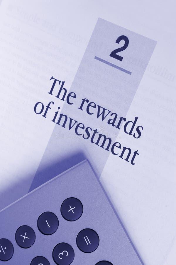 De Beloningen van de investering stock foto's