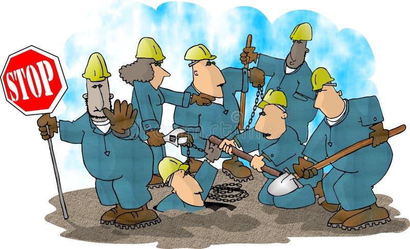 De Bemanning van de bouw royalty-vrije illustratie