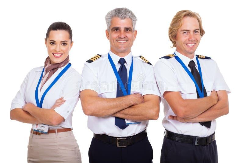 De bemanning van de groepsluchtvaartlijn royalty-vrije stock fotografie