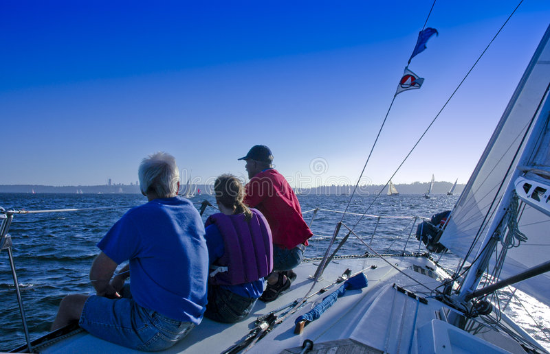 De Bemanning van de zeilboot royalty-vrije stock fotografie