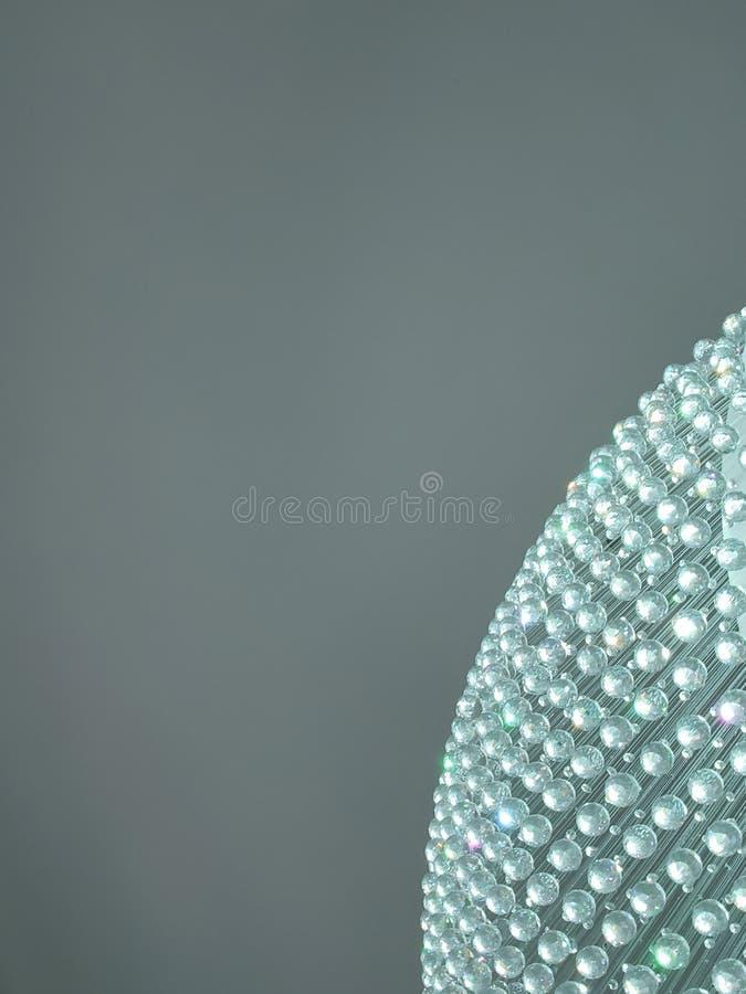 de benadering van de hoek van een gebied van kristallen bollen en de lichte bezinning in aquamarijn kleuren, achtergrond en textu royalty-vrije stock foto