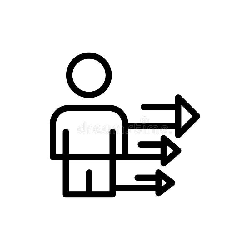 De benadering, de Zaken, de Leiding, de Moderne Blauwe en Rode Download en kopen nu de Kaartmalplaatje van Webwidget stock illustratie