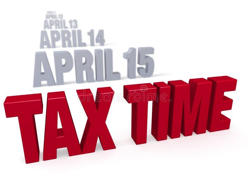 De Benaderingen van de belastingstijd stock illustratie
