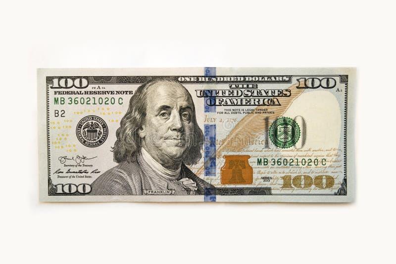 De benaming honderd dollars royalty-vrije stock foto