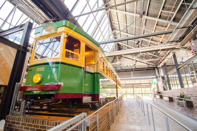 De bendigotram Nr 1995 was in de dienst van het Rozelle-Tramdepot vanaf November 1951 tot de depot` s sluiting in 1958 stock foto's