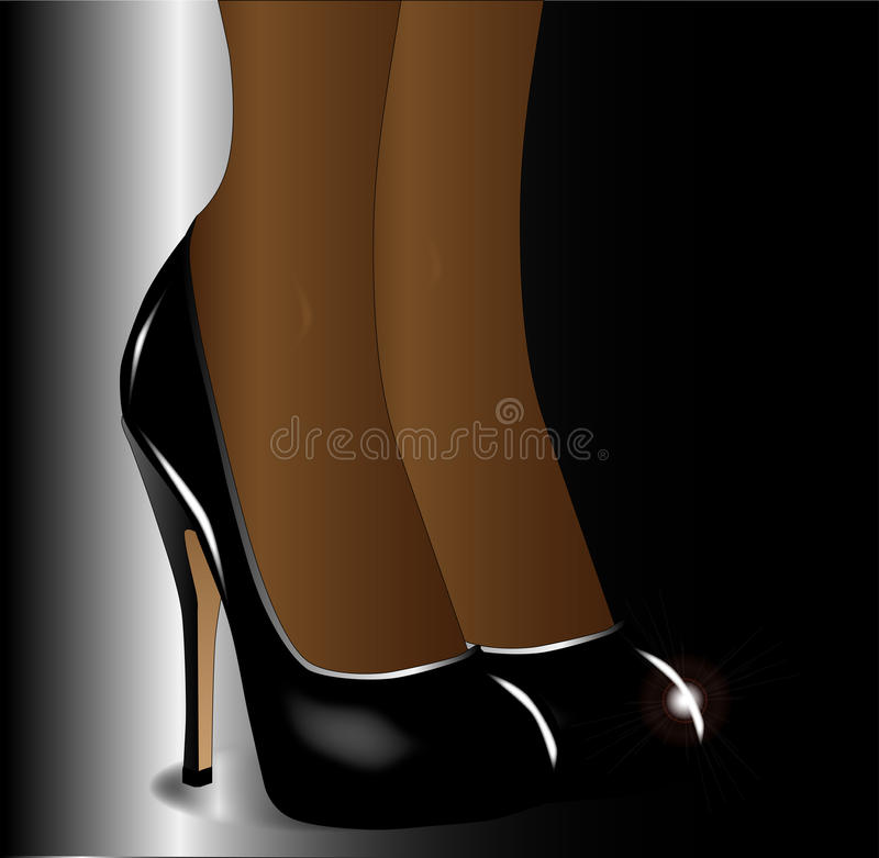 De benen met Stiletto heelt royalty-vrije illustratie