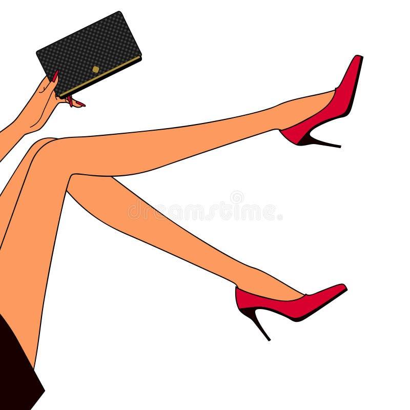 De benen van de mooie vrouw stock illustratie