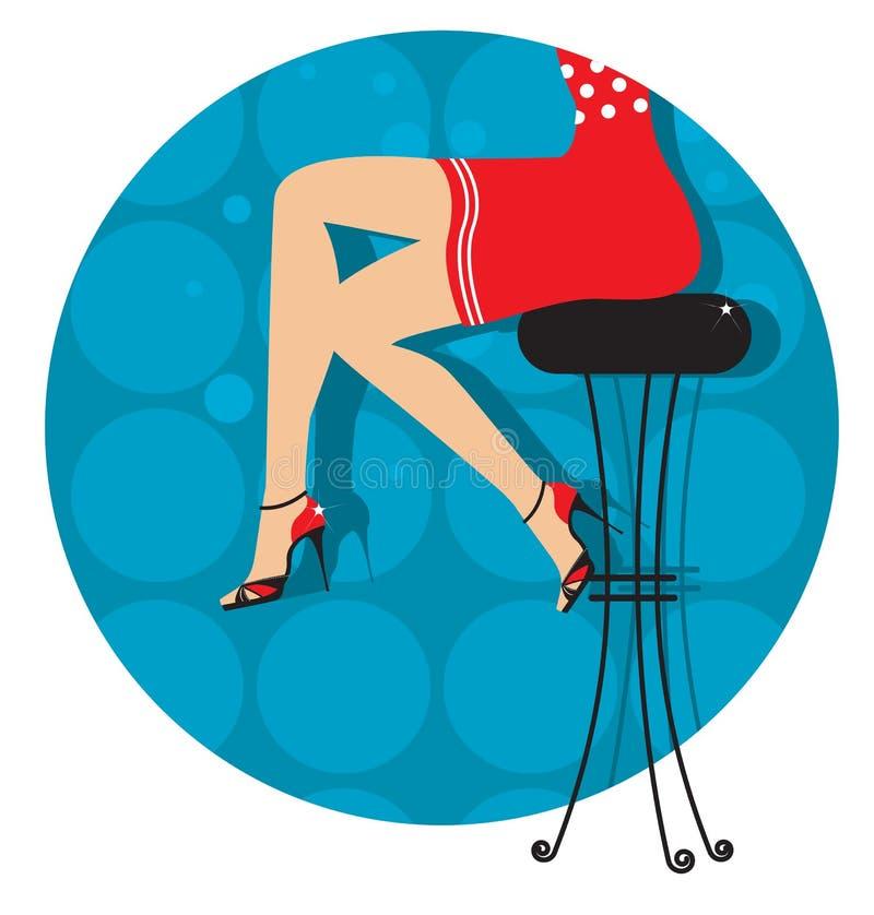 De benen van de vrouw met manierschoenen royalty-vrije illustratie