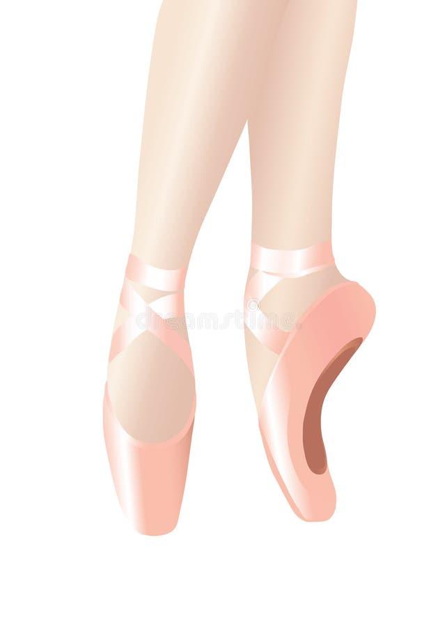 De benen van het ballet vector illustratie