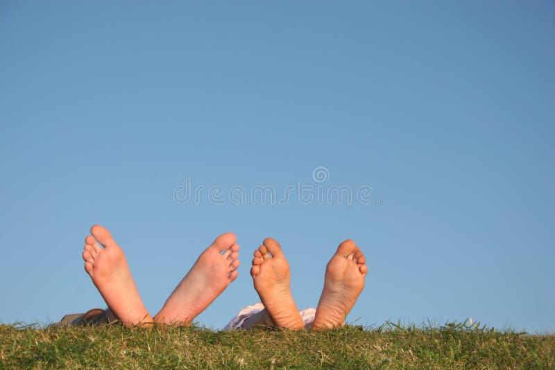 De benen van het paar royalty-vrije stock fotografie