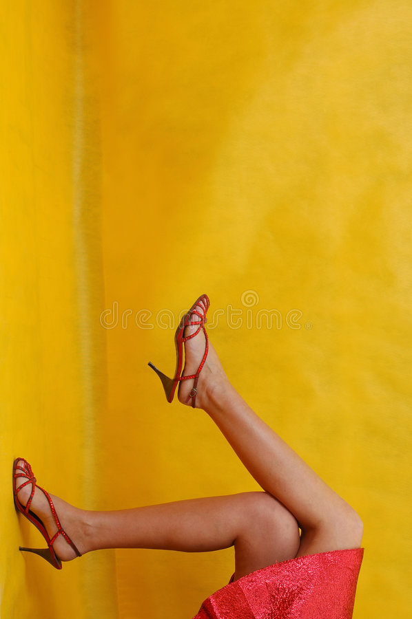 De benen van meisjes royalty-vrije stock foto