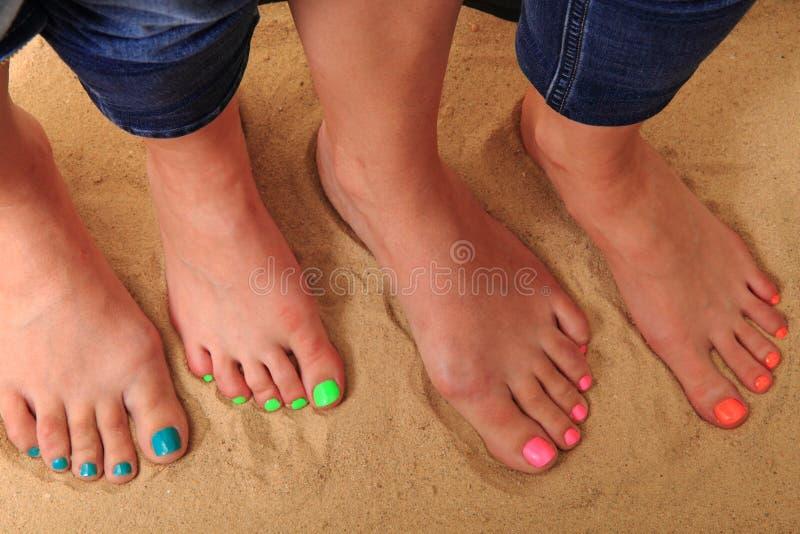 De benen van Nice met pedicure stock foto's