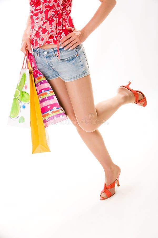 De benen van Woman?s stock foto