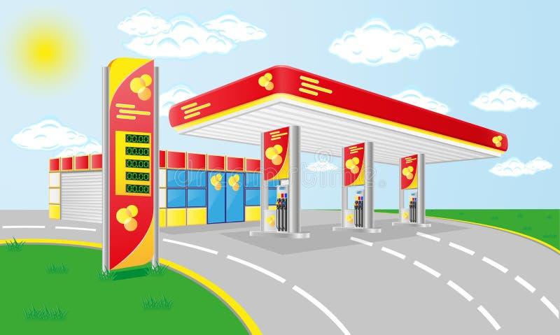 De benzinepost van de auto vector illustratie