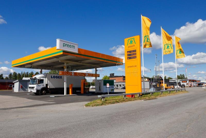 De benzinepost van het Preemmerk royalty-vrije stock afbeelding