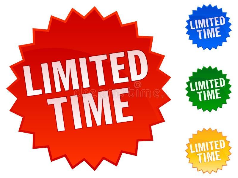 De beperkte Stickers van de Tijd stock illustratie