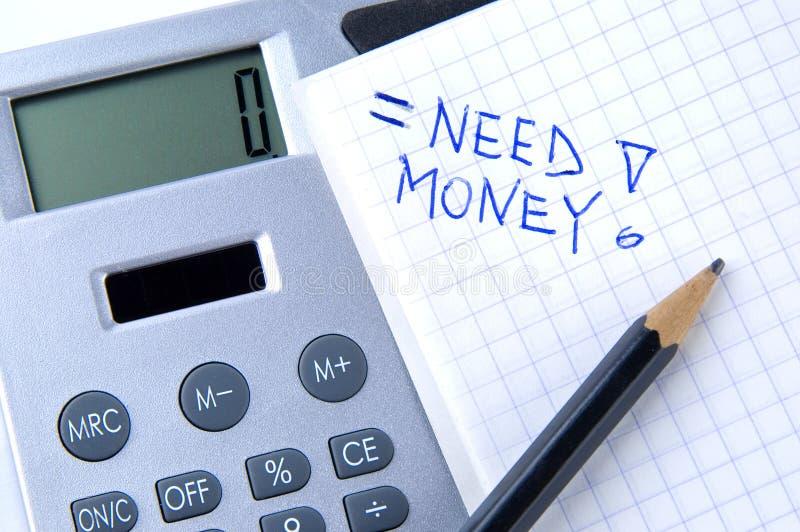 De berekening van het geld stock foto's