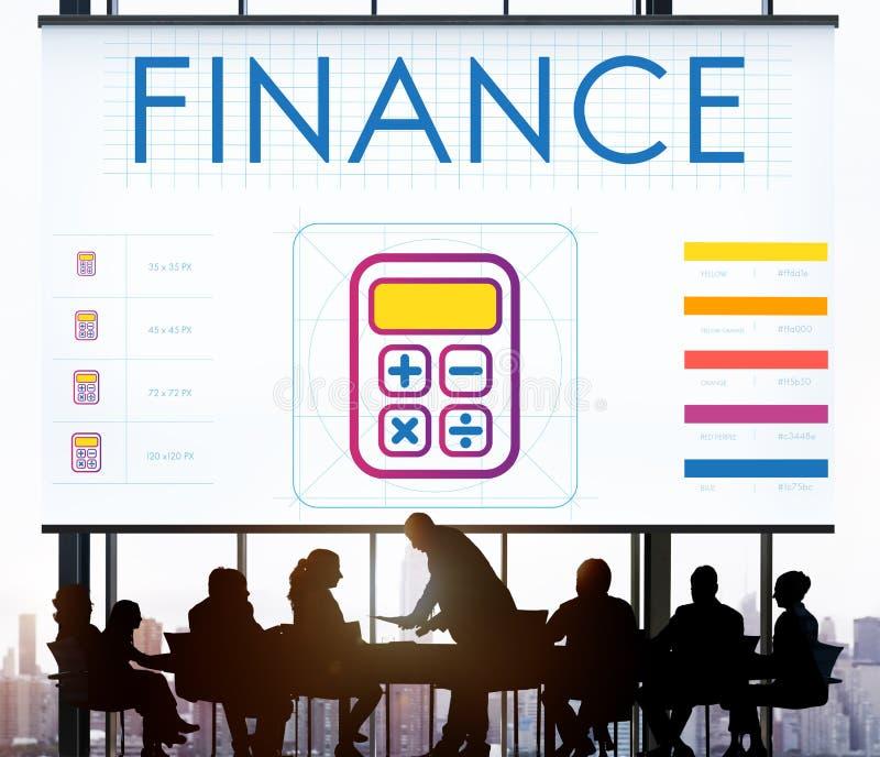 De Berekenings Grafisch Concept van Calcualtor van de financiënboekhouding stock afbeeldingen