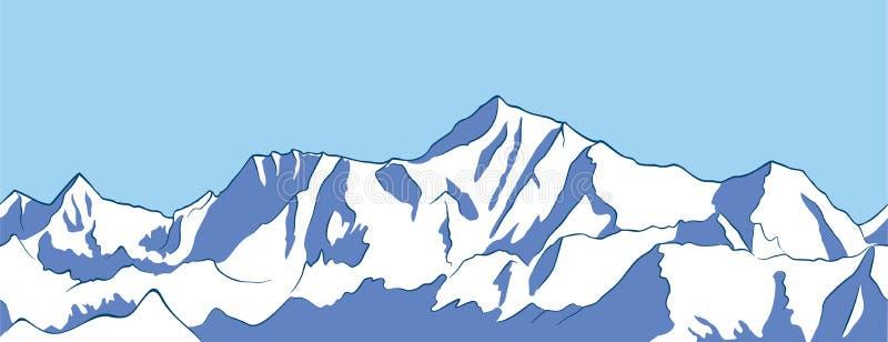 """De berg †""""zet Everest op stock illustratie"""