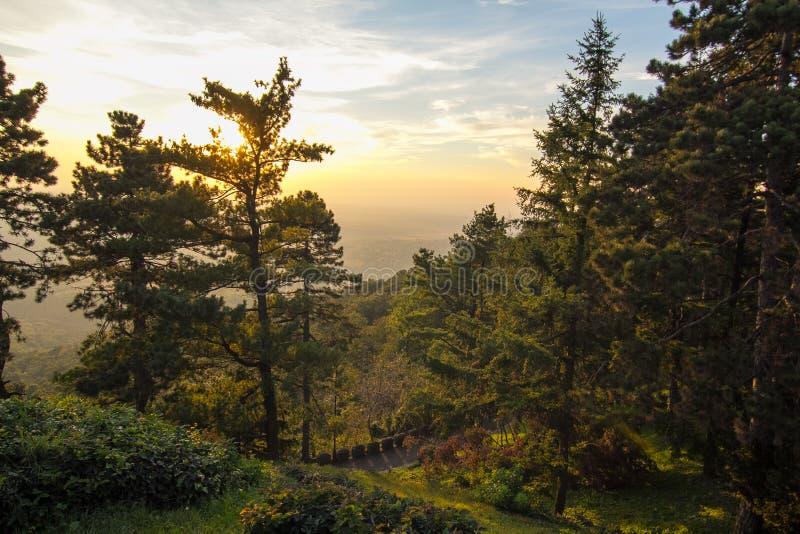 De berg Avala in Servië royalty-vrije stock afbeelding