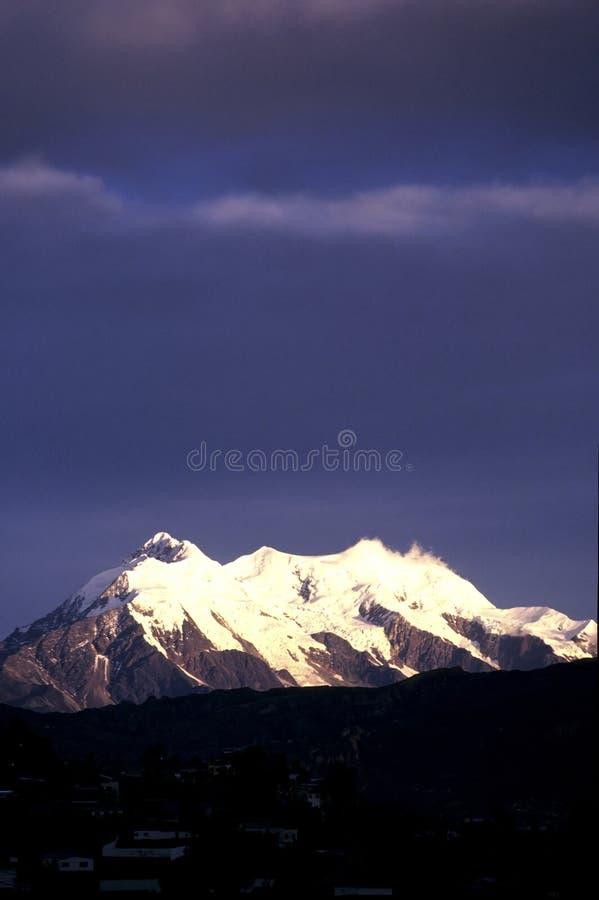 De berg Bolivië van de Andes stock foto