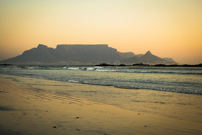 De berg Kaapstad van de lijst royalty-vrije stock foto's