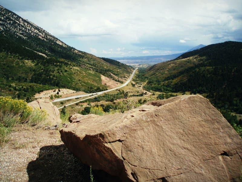 De berg overziet Colorado stock afbeelding