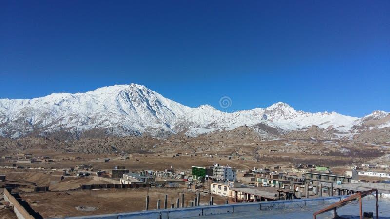 De berg van Chawgani in Daykundi-provincie stock foto