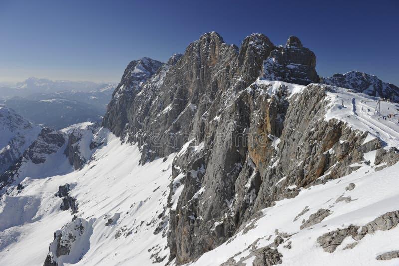 De Berg van Dachstein stock fotografie