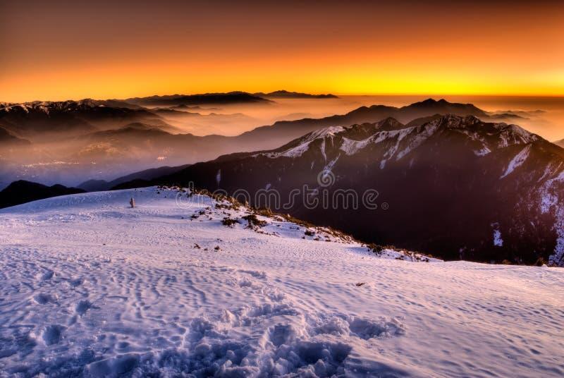 De berg van de kleur royalty-vrije stock foto