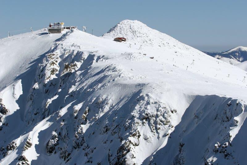 De berg van de winter - Chopok stock afbeelding