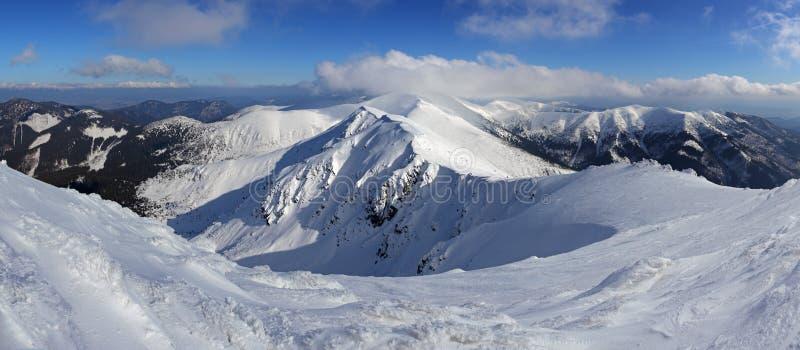 De berg van de winterslowakije - Lage Tatras van Chopok royalty-vrije stock fotografie